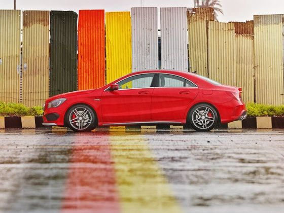 Mercedes-Benz CLA45 AMG side