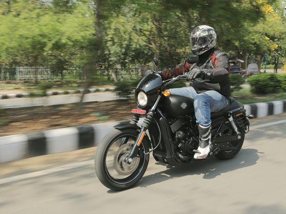 Harley-Davidson Street 750 review action shot