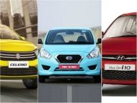 Datsun Go vs Maruti Celerio vs Hyundai i10