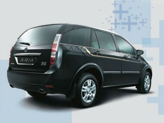 New Tata Aria rear shot