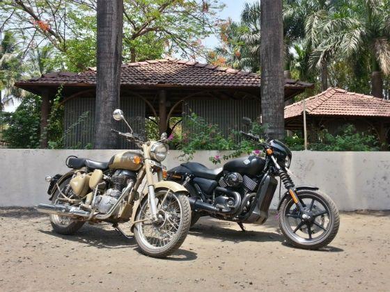 Harley-Davidson Street 750 vs Royal Enfield Desert Storm