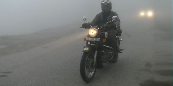 Riding in the fog