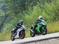 KTM RC 390 compared to Kawasaki Ninja 300