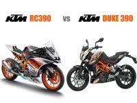 KTM RC 390 vs KTM 390 Duke
