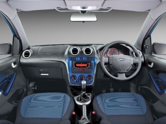 The upgraded Figo flaunts a Cyber Blue trim for the dashboard, door handles and seats