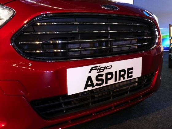 Ford Figo Aspire compact Sedan grille