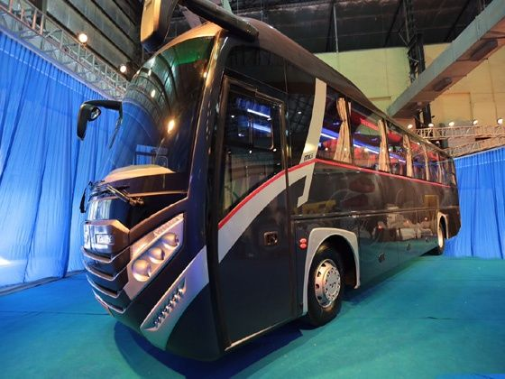 MG and Man Trucks India unveil Mammoth coach