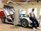 Floyd Mayweather  with his Koenigsegg CCXR Trevita