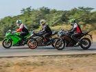 Yamaha YZF-R3 vs Kawasaki Ninja 300 vs KTM RC390
