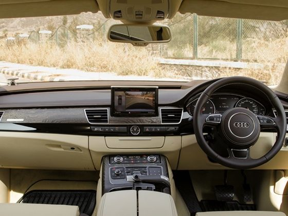 The leather wrapped interiors of the new Audi A8L 60 TDI