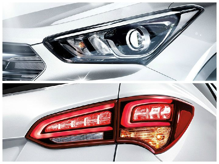 Santa Fe facelift details - new headlamps and redesigned LED taillamps