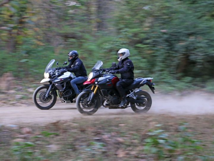 The Tiger is a versatile bike, but the V-Strom is a great tourer for all-day long comfort