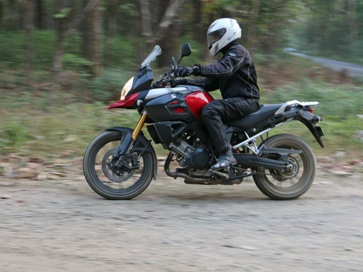 The V-Strom performed better than expected