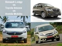 Renault Lodgy, Toyota Innova and Honda Mobilio