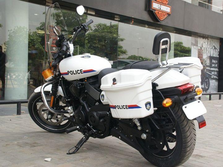 Harley-Davidson Street 750 Gujarat Police rear image