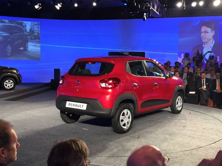 Renault Kwid rear at its global unveiling
