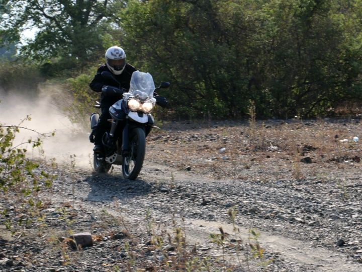 Off-roading on the Triumph Tiger 800 XCx