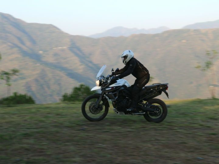 Capable off-roading ability of the Tiger 800 XCx