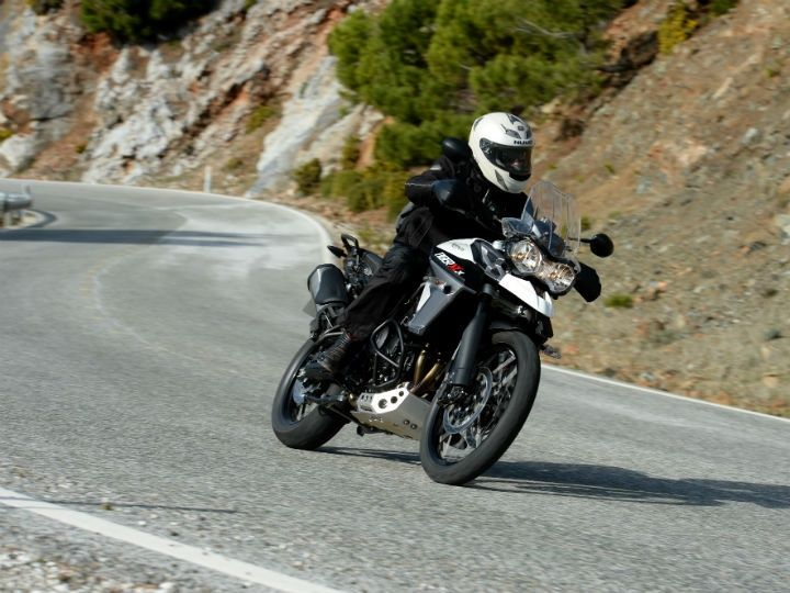 Impeccable road manners of the Tiger 800 XCx