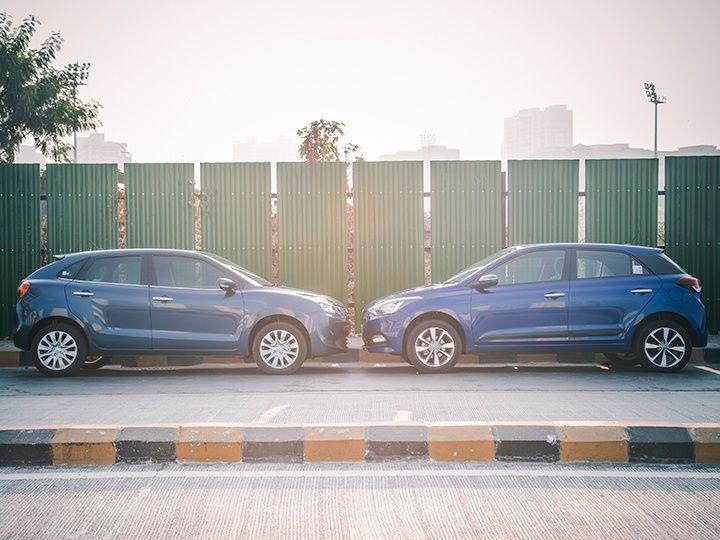 maruti suzuki baleno hyundai i20 comparison petrol zigwheels india m13 720x540