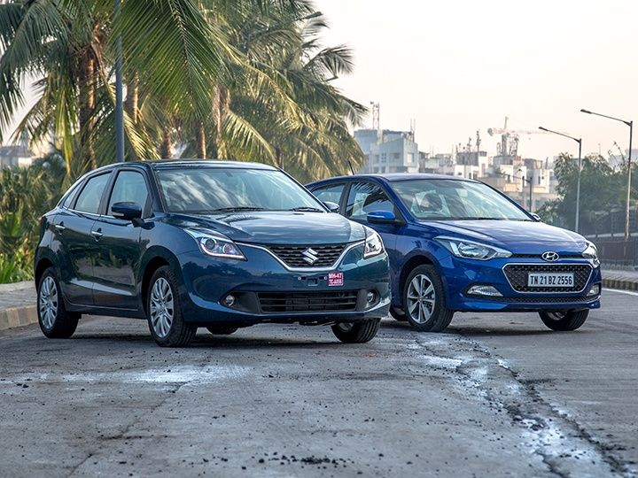 maruti suzuki baleno hyundai i20 comparison petrol zigwheels india m14 720x540