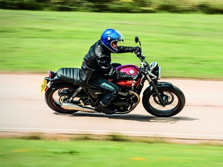 Triumph Street Twin Riding