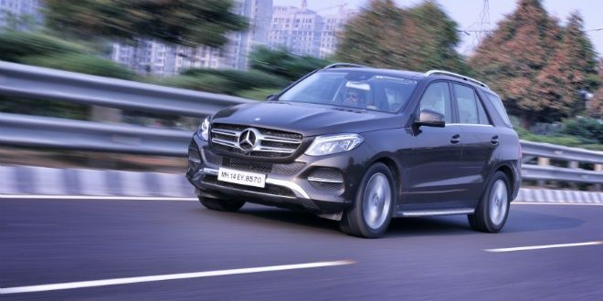 2015 Mercedes-Benz GLE in action