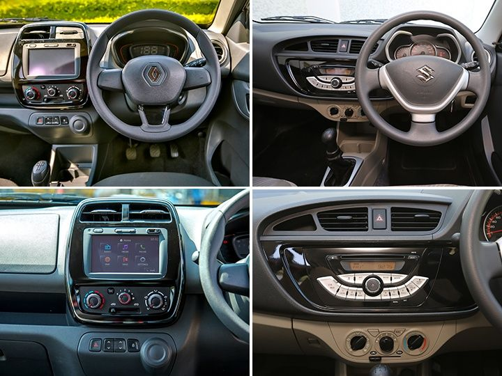 renault kwid vs maruti suzuki alto k10 exterior interior features and space comparison page. Black Bedroom Furniture Sets. Home Design Ideas