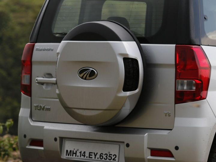 2015 Mahindra TUV300 Review spare wheel