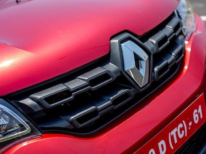 Renault badge on the Kwid