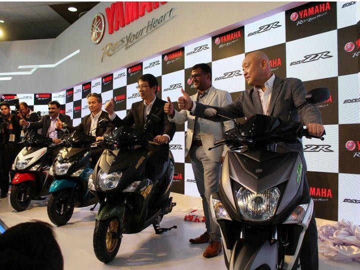 Yamaha Cygnus Ray ZR Auto expo 2016