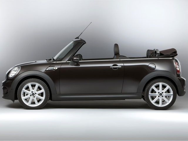 MINI Convertible Side View with open roof