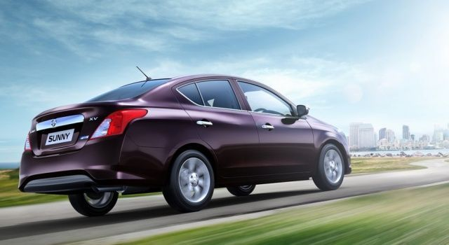 New Nissan Sunny Rear View