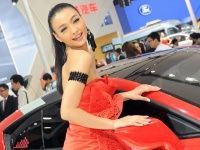 Girls at the 2012 Beijing Auto Show