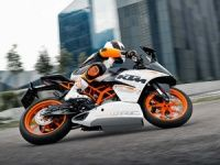 KTM RC 390 in action