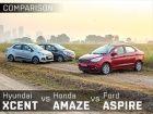Ford Figo Aspire vs Hyundai Xcent vs Honda Amaze Diesel