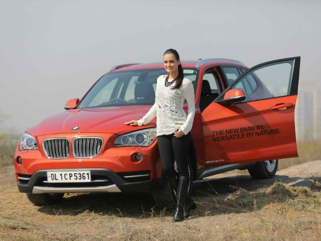 Dia Mirza with the new BMW X1