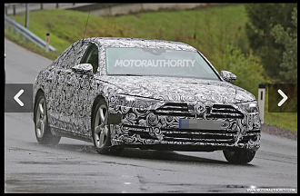 2017 Audi A8 Caught Testing In Europe.