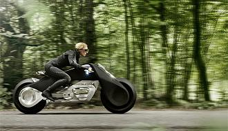 BMW Motorrad Vision Next 100: A Bike that Looks like the Batpod!