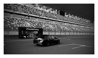 Driving the Mercedes Benz C43 AMG at the Buddh International Circuit