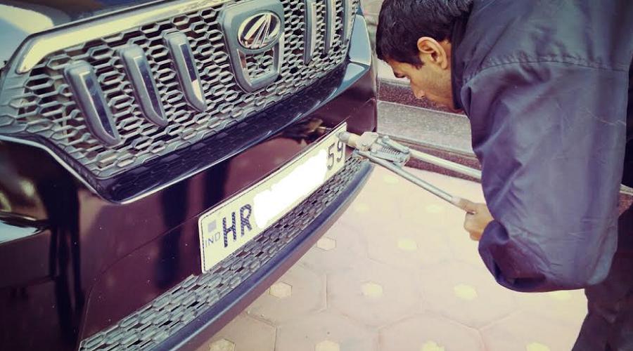 High Security Registration Plate Hsrp Installation