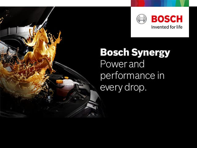 Bosch Synergy 100% Synthetic Oil <br> The energy drink for your car